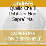 QUELLO CHE IL PUBBLICO NON SAPRA' MAI cd musicale di PATRIZIO TRAMPETTI