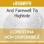AND FAREWELL TO HIGHTIDE cd musicale di CERBERUS SHOAL