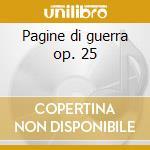 Pagine di guerra op. 25 cd musicale di Casella