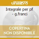Integrale per pf - g.franci cd musicale di A. Copland