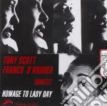 HOMAGE TO LADY DAY cd musicale di SCOTT TONY