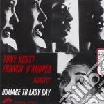 Tony Scott & Franco D'andrea - Homage To Lady Day cd musicale di SCOTT TONY