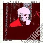 Franco D'andrea - Solo 4 Gato cd musicale di D'ANDREA FRANCO