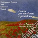 Castelnuovo Tedesco Mario / Rota Nino - Sonata Per Clar E Pf Op.128  - Levorato Giorgio  Cl/martina Stauble Pf. cd musicale di Tedesco Castelnuovo