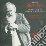 QUARTETTI OP.51 (PER PIANOFORTE A 4 MANI cd musicale di Johannes Brahms