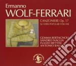 CANZONIERE OP.17 SU VERSI POPOLARI TOSCA cd musicale di Ermanno Wolf-ferrari