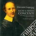 Giovanni Legrenzi - Sacri E Festivi Concenti cd musicale di Giovanni Legrenzi