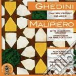 Ghedini Giorgio Federico - Concerto Spirituale, 2 Liriche cd musicale di Ghedini giorgio fede