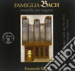 Famigia bach - musiche per organo cd musicale di Miscellanee