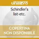 Schindler's list-etc. cd musicale di Film music 90/iii