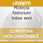 Motecta festorium totius anni cd musicale di Palestrina