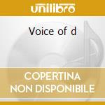 Voice of d cd musicale