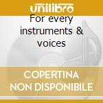For every instruments & voices cd musicale