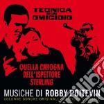 Ost/tecnica di un omicidio cd musicale di Robby Poeitevin