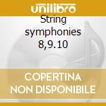 String symphonies 8,9.10 cd musicale di Mendelssohn