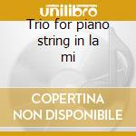 Trio for piano string in la mi cd musicale di Tchaikovsky
