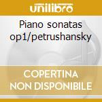 Piano sonatas op1/petrushansky cd musicale di Johannes Brahms