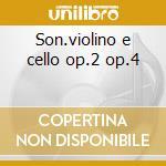 Son.violino e cello op.2 op.4 cd musicale di Antonio Vivaldi