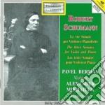 SONATE X VL E PF (INTERGRALE) cd musicale di Robert Schumann