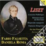 Liszt Franz - Musica Per Pianoforte A 4 Mani: Concerto Patetico, Réminescences De Don Juan cd musicale di Franz Liszt