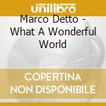 Marco Detto - What A Wonderful World cd musicale