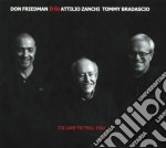 Don Friedman Trio - I's Like To Tell You cd musicale di Don friedman trio
