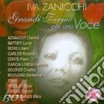 GRANDI FIRME PER UNA VOCE cd musicale di ZANICCHI IVA