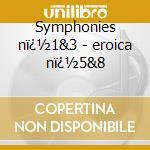 Symphonies n�1&3 - eroica n�5&8 cd musicale di Beethoven