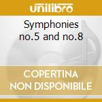 Symphonies no.5 and no.8 cd musicale di Beethoven