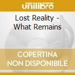 Lost Reality - What Remains cd musicale di Telespallabob
