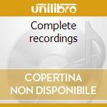 Complete recordings cd musicale di Mulligan Baker chet