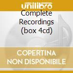 COMPLETE RECORDINGS (BOX 4CD) cd musicale di Hall j Desmond paul