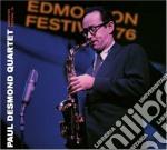 Paul Desmond Quartet - Edmonton Festival'76 cd musicale di Desmond paul quartet