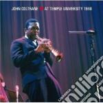 John Coltrane - At Temple University 1966 cd musicale di John Coltrane