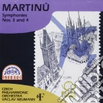 Martinu Bohuslav - Sinfonia N.3, N.4  - Neumann Vaclav Dir  /czech Philharmonic Orchestra cd musicale di Bohuslav Martinu