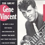The great cd musicale di Gene Vincent