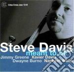 MEANT TO BE cd musicale di DAVIS STEVE
