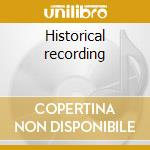 Historical recording cd musicale di Marlene Dietrich