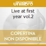 Live at first year vol.2 cd musicale di Haino Keiji