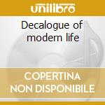 Decalogue of modern life cd musicale di Afterglow