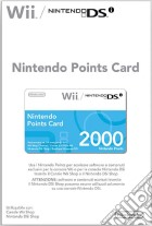 NINTENDO Wii DSi Points Card 2000 game acc