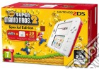 Nintendo 2DS Bianco+Rosso New S.M.Bros 2 game acc