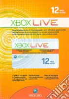 MICROSOFT X360 Live Gold Card 12 Mesi game acc