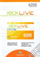 MICROSOFT X360 Live 4200pt Card game acc