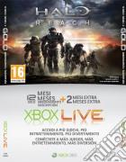 MICROSOFT X360 Live Card 12 Mesi+2 HaloR game acc
