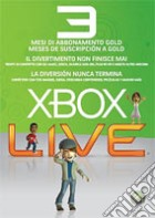 MICROSOFT X360 Live Gold Card 3mesi game acc