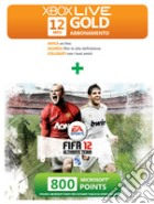 MICROSOFT X360 Live 12M+800 Points FIFA game acc