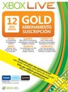 MICROSOFT X360 Live 12M Gold Card Ldt Ed game acc