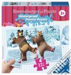 Ravensburger 05606 - Masha E Orso - Puzzle Di Plastica 12 Pz - Pattinaggio Sul Ghiaccio
