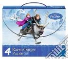 Ravensburger 07300 - Valigetta 4 Puzzle - Frozen
